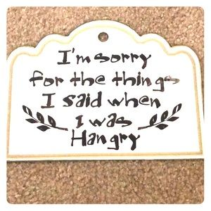 Hangry Sign